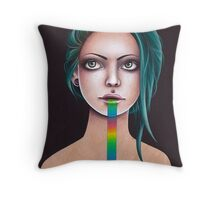 Untitled Rainbow Throw Pillow