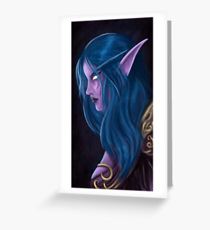 Night Elf Greeting Card
