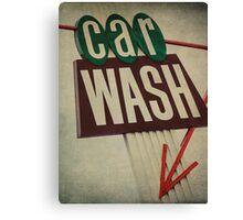 Vintage Car Wash Sign  Canvas Print