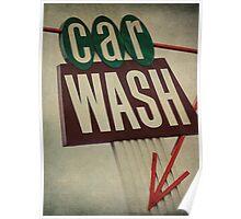 Vintage Car Wash Sign  Poster
