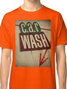 Vintage Car Wash Sign  Classic T-Shirt