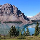 Bow Lake, Banff National Park by Robbie Labanowski