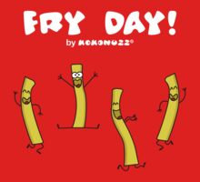 It's Fry Day! Dancing fries celebrating Friday! One Piece - Short Sleeve