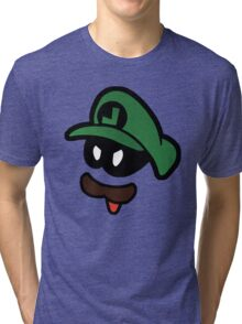 Mr. L  (Evil Luigi) Tri-blend T-Shirt