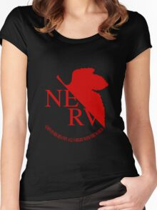 NERV Red Logo Women's Fitted Scoop T-Shirt
