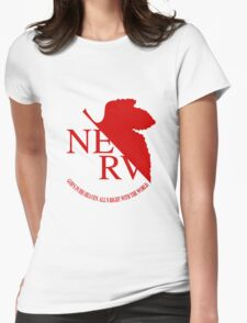NERV Red Logo Womens Fitted T-Shirt