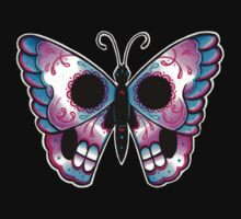 Sugar Skull Butterfly Tattoo Flash by MissCarissaRose