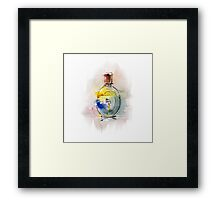 a beautiful bottle of perfume Framed Print