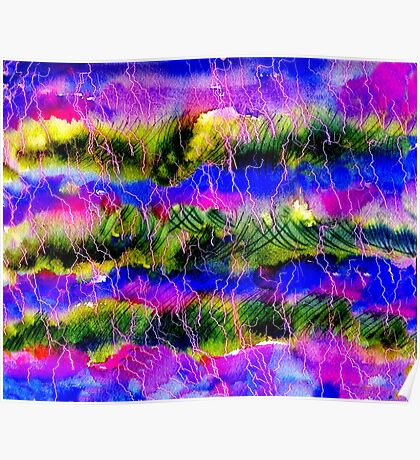 Lavander Field Abstract Background Poster