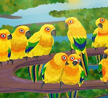 Parrots by Chealey
