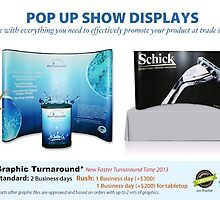 Pop Up Trade Show Displays help to promote your product at a trade show by sdsign