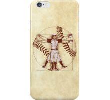 Vitruvian Baseball Player (Natural Tones) iPhone Case/Skin