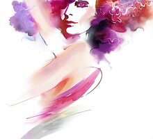 Fashion Art Portrait Of Beautiful Girl  by Teni
