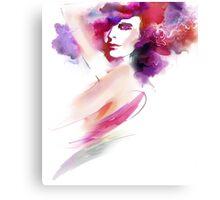 Fashion Art Portrait Of Beautiful Girl  Canvas Print