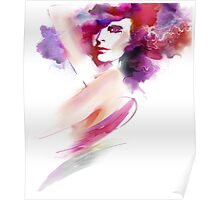 Fashion Art Portrait Of Beautiful Girl  Poster
