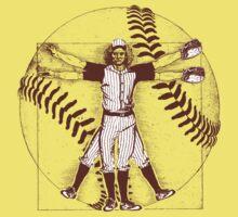Vitruvian Baseball Player (Natural Tones) Kids Clothes