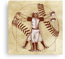 Vitruvian Baseball Player (Natural Tones) Canvas Print
