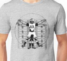 Vitruvian Football Player (B&W Tones) Unisex T-Shirt