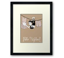 Buster Keaton Hello Neighbor! cartoon Framed Print