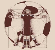 Vitruvian Soccer Player (Natural Tones) T-Shirt