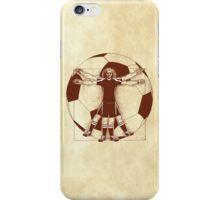 Vitruvian Soccer Player (Natural Tones) iPhone Case/Skin