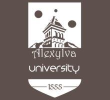 Alexylva University 1888 White by Kirdinn