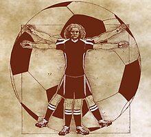 Vitruvian Soccer Player (Natural Tones) by KAMonkey