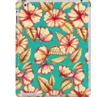 Rust & Teal Floral Pattern iPad Case/Skin