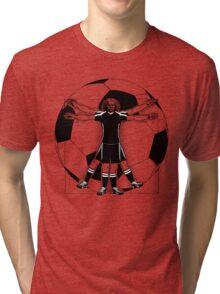 Vitruvian Soccer Player (B&W Tones) Tri-blend T-Shirt