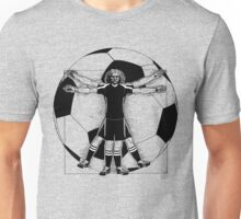 Vitruvian Soccer Player (B&W Tones) Unisex T-Shirt