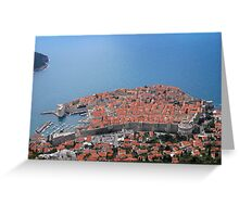 Dubrovnik, city of red roofs Greeting Card