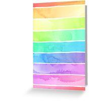 Summer Sorbet Rainbow Stripes Greeting Card