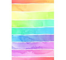 Summer Sorbet Rainbow Stripes Photographic Print
