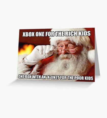 Funny Santa Xbox one meme Greeting Card