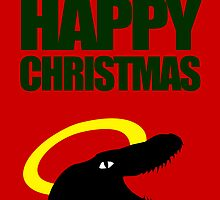 Raptor Jesus says Happy Christmas by jezkemp