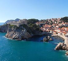 Dubrovnik from the city walls by MigBardsley