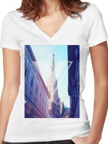 Vienna Women's Fitted V-Neck T-Shirt