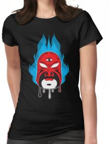 Mask Blue Flame I Womens Fitted T-Shirt