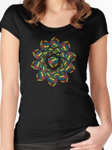 rubix vision 2 Women's Fitted Scoop T-Shirt