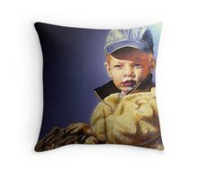The Golden Child Throw Pillow