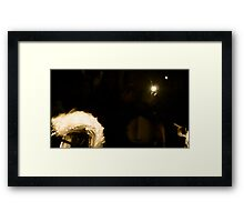 Silhouette of a dreamer Framed Print