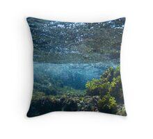 Under the Caribbean Sea Throw Pillow