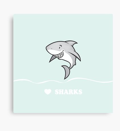 Love sharks/Great white buddy Canvas Print