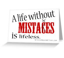 Making Mistakes Greeting Card