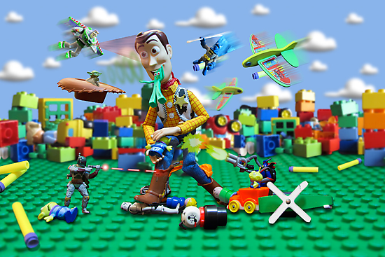Woody vs the Little Guys by Randy Turnbow