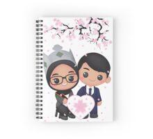 Cute Sakura Love Spiral Notebook