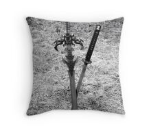 Cross Swords Throw Pillow