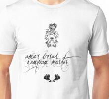' amor verus numquam moritur ' Unisex T-Shirt
