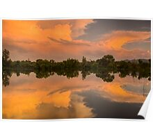 Wings Of Glory - Sawhill Ponds Sunset Poster