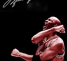 Michael Jordan with Signature by jsipek